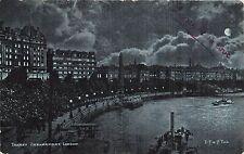 POSTCARD    LONDON   Thames  Embankment