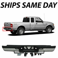 NEW Chrome - Complete Steel Rear Step Bumper Assembly For 1993-2011 Ford Ranger