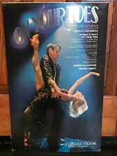 Original 1983 ON YOUR TOES Broadway Theater Window Card Natalia Makarova