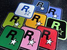 $$$$$Rockstar Games Conjunto de nueve diferentes Colores Brillo Pegatinas de vinilo $$$$$