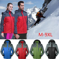Men's Waterproof Jacket Sports Coat Warm Hiking  Outdoor Ski Snow Climbing M-9XL