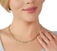 """Graduated Byzantine Chain Necklace Real 14K Yellow Gold QVC 16"""" 18"""" 20"""""""