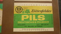 OLD DDR EAST GERMANY BEER LABEL, BITTERFELD BRAUEREI, PILS