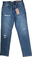 New Next Size 32 L Men's Slim Tapered Distressed Blue Denim Jeans £40