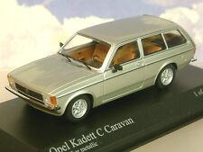 MINICHAMPS 1/43 PRESSOFUSO 1978 OPEL KADETT C CARAVAN IN ARGENTO METALLICO 400