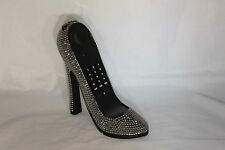 High Heel Shoe Telephone with Rhinestone Bling in Metallic Silver N 296