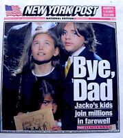 Michael Jackson Newspaper New York Post 2009 Bye Dad Tribute Thriller Pop King