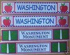 LOT OF 4 WASHINGTON DC MONUMENT SCRAPBOOK BORDER STICKER! RETIRED! NLA!