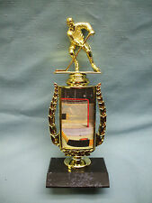 HOCKEY trophy  full color riser black base slapstick
