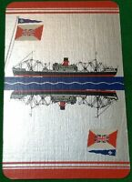 Playing Cards Single Card Old GLEN LINE Shipping Advertising Art Picture Design