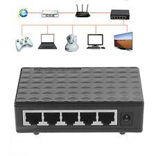 DC 5V 5 ports RJ-45 10/100 Gigabit Ethernet Network Switch Auto-MDI/MDIX Hub