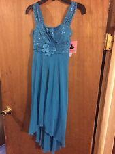 new nwt amys closet dress dressy size 10 teal blue dance wedding retail$58