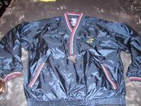 Vintage 90's KU Jayhawks Men's Pullover SHELL Windbreaker Pro Player Kansas L