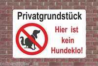 Kein Hundeklo Schild Hinweisschild Hund Verbotsschild Hundekot 2055H