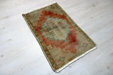 """Sivas Carpet Doormat, 21.7""""x35.4"""", Turkish Doormat, Handmade Vintage Doormat"""