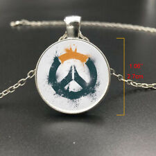 Overwatch Logo Video Game Gamer Gaming Necklace Pendant Jewelry Art Gift Gifts