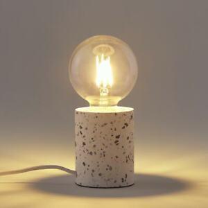 LA REDOUTE White Marble Naya Table Lamp Terrazzo Effect Base New RRP £45