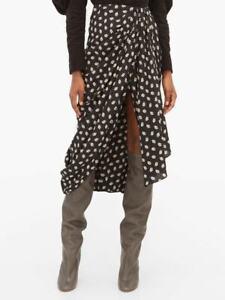 NWT Isabel Marant 'Candice' Silk-Crepe Skirt Size FR 36,38,44 / AU 8,10,14