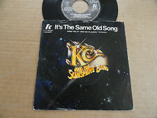 """DISQUE 45T DE KC AND THE SUNSHINE BAND  """" IT'S THE SAME OLD SONG """""""