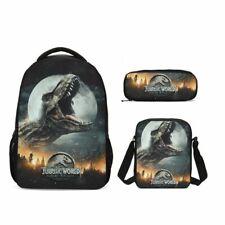 S/3 Jurassic Park Dinosauro Kids 18' Scuola Zaino Borsa a Tracolla Astuccio LOTTO