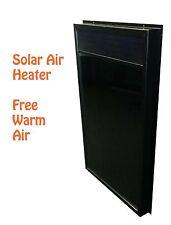 SolarEngine Solar Air Heater heating panel chauffe-solaire l'air panneau house