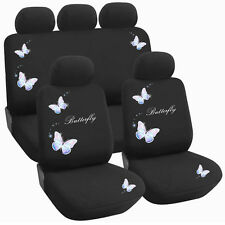 New 9PC Universal Vehicle Racing Car Seat Cover Protector Set - Butterfly Y33625