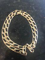 14K Solid Yellow Gold Necklace 6mm 19'' 20.6 gram Mens Curb unique rare