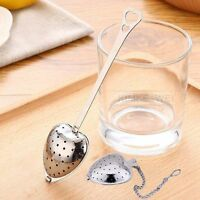 Heart Shaped Stainless Steel Tea Leaf Filter Herbal Spice Infuser Strainer Spoon