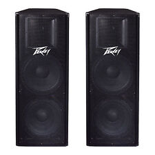 "Peavey PV215 2-Way 2800 Watt Dual 15"" PA Full Range DJ Speakers PV 215 (2 Pack)"