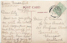 Genealogy Postcard - Family History - Daines - Garnekill - Glasgow   BS776