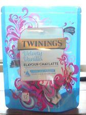 Twinings Velvety Vanilla Caffeine Free Tea 12 Pyramid Bags BRAND NEW WORLDWIDE