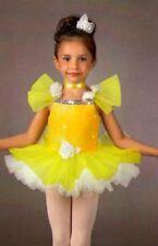 Little Miss Dance Costume Yellow Sunshine Ballet Tutu Tap Dress Child X-Small 2T
