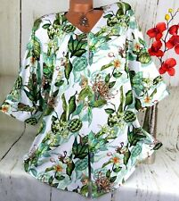 New Jersey Tunika Bluse Kleid Shirt Longshirt Poncho Top Lagenlook XXXL 50 52