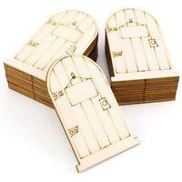 set of 25 Laser-Cut wooden fairy faerie elf doors unpainted with plaque B2X7