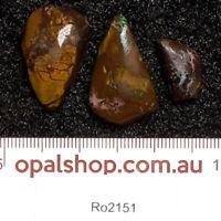 Boulder Opal Rubs Material from Queensland, Australia - Ro2151