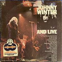 Johnny Winter And ‎– And/Live 1975 Vinyl 2xLP ‎CG 33651 Terre Haute Gatefold EX