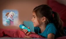 Frozen Childrens Projector Torch LED Disney Elsa Movie Girl Room Play Film Blue