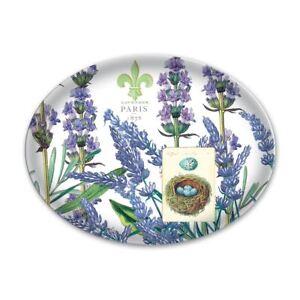 Michel Design Works Glass Soap Trinket Dish Lavender & Rosemary Nest Eggs Paris