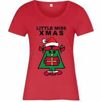 Little Men Christmas T-Shirt, Little Miss Xmas Gift Festive Adult Ladies Top