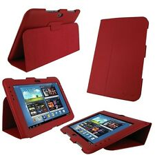 rooCASE Ultra-Slim Folio Vegan Leather for Samsung Galaxy Note 10.1 Red Lot C23