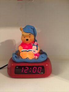 Disney Winnie The Pooh and Piglet  Digital Alarm Clock / Night Light