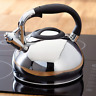 Judge Stainless Steel 3 Litre Induction Stove Top Electric Gas Whistling Kettle