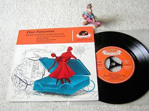 """WERNER MÜLLER Eine Tanzreise 1957 GER 7""""EP +PS POLYDOR  20290 EPH"""