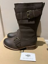 *NEW* Genuine UGG Brown Chancey Leather Boots Size UK 4.5 EU 37 Water Resistant
