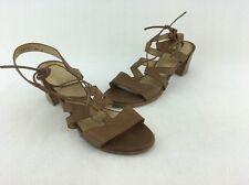 Stuart Weitzman Romanesque Brown Lace-up Sandal Size 8.5M  B1109#