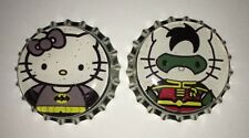 Bottle Cap Magnet Set *Hello Kitty Batman and Robin Heroes* Collectibles
