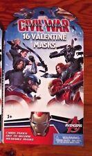 NEW Marvel Captain American Iron Man Civil War Valentine Masks Cards Party Favor