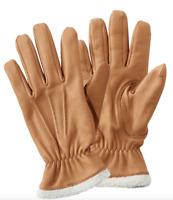 L. L.  BEAN Deerskin Women's Glove w Shearling Lining SADDLE BROWN MEDIUM | $89