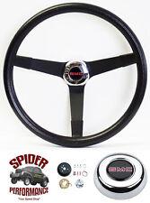 "1974-1979 Jimmy Suburban GMC pickup steering wheel 14 3/4"" Vintage Black"