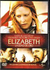 ELIZABETH: LA EDAD DE ORO de Shekhar Kapur. España tarifa plana envíos DVD: 5 €
